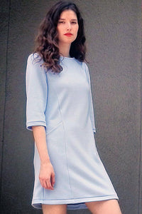 Upside Cyclestyle Long Sleeved Dress in Lavender Blue on model