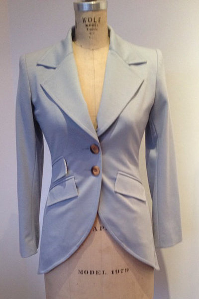 Upside Cyclestyle Women's Ponte Equestrian Jacket in Blue-Grey