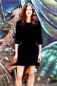 Upside Cyclestyle Long Sleeved Dress in Black on model