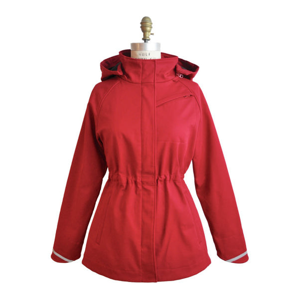 Upside Cyclestyle Women's Commuter Jacket in Red from Mia Melon