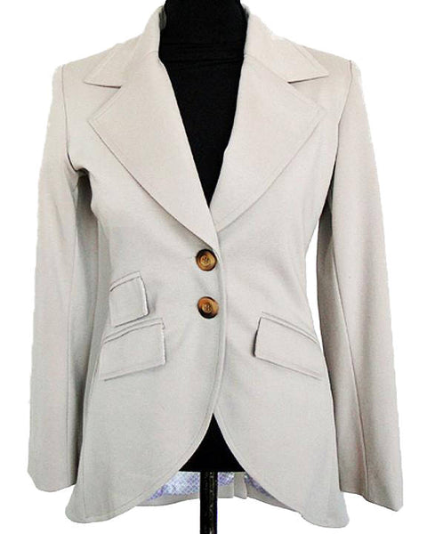 Upside Cyclestyle Women's Ponte Equestrian Jacket in Beige