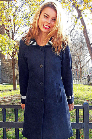 Upside Cyclestyle Women's Sailor Coat on model