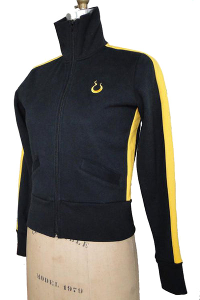 Upside Cyclestyle Women's Fleece Jacket in Black & Yellow