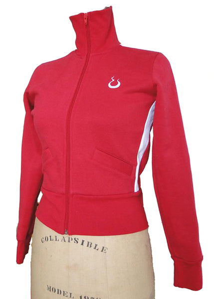Upside Cyclestyle Women's Fleece Jacket in Red & White