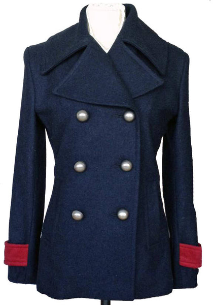 Upside Cyclestyle Women's Wool Peacoat - Navy