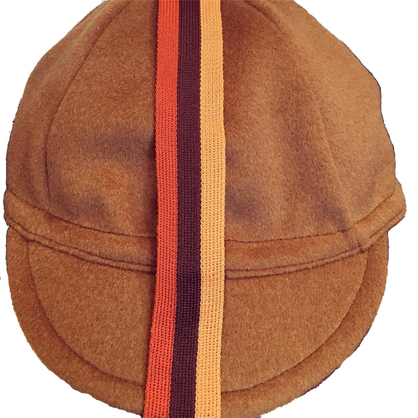 Upside Cyclestyle Wool Cycling Cap - Brown with Vintage Stripe