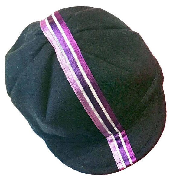 Upside Cyclestyle Wool Cycling Cap - Midnight Blue with Graffiti Stripe