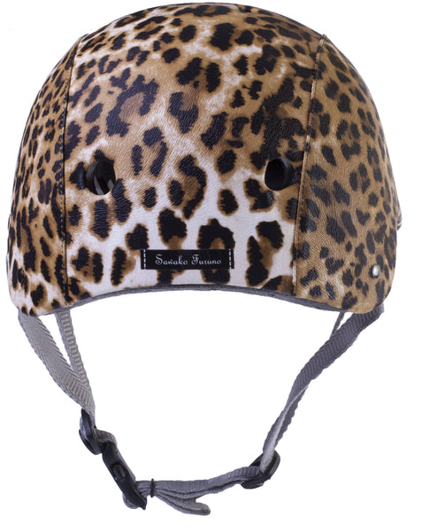 Upside Cyclestyle - Sawako Furuno Cycling Helmet - Leopard - back view
