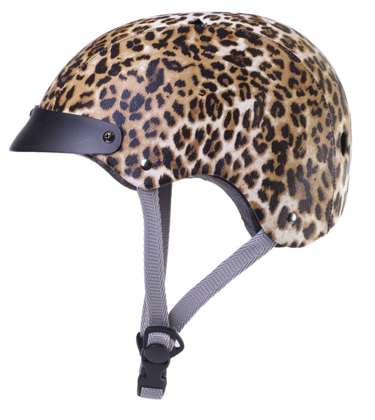 Upside Cyclestyle - Sawako Furuno Cycling Helmet - Leopard - side view