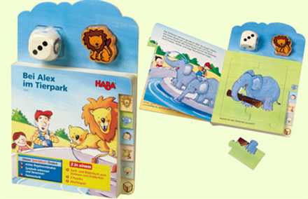 HABA At the Zoo with Alex Book Puzzle and Game
