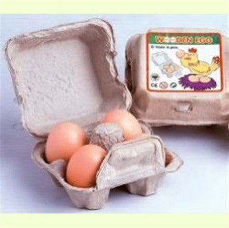 Estia Wooden White farm eggs in a box - Waldorf toys