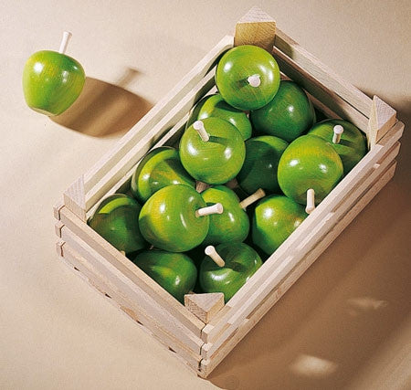 Haba Apple - Pretend Play Wooden Food: Fruit Green Granny Smith Apple