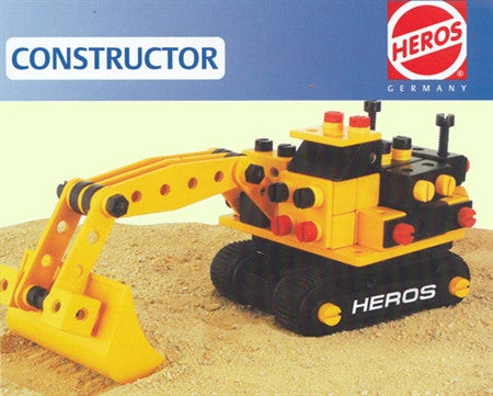 Heros Excavator Digger with Tracks - 160 Pieces Heros Constructor Kit