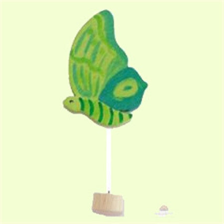 Grimm's Green Butterfly Celebration Ring Decor
