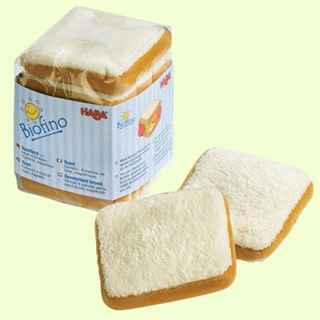 Haba Biofino Toast - Soft Pretend Play Food, Magnetic Toast (Bread)