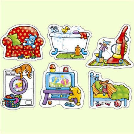 Orchard Toys In my House - Box set of 2 and 3 piece toddler first puzzles