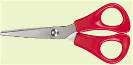 Kids scissors - 5 inch, Right Hand with rounded tips and plastic finger holes
