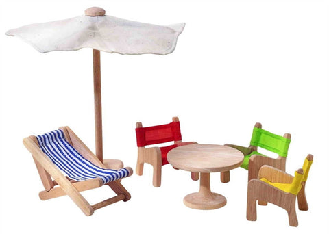 Plan Toys Wooden Patio Furniture for Dollhouse