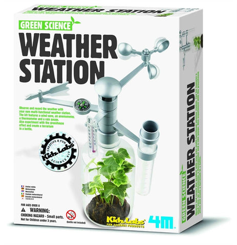 4M Weather Station Green Science Kit