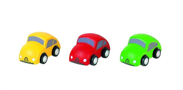 Plan Toys Mini Wooden Cars - Set of three Plan City Herbie like Cars
