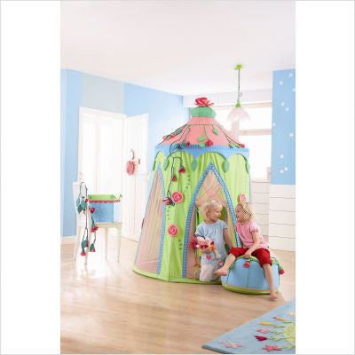 Haba Play Tent Rose Fairy - Fold down play tent and room décor