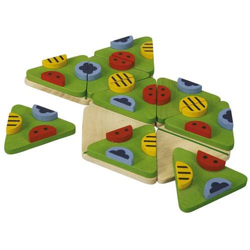Plan Toys Trimino Bugs, 3-sided dominos game