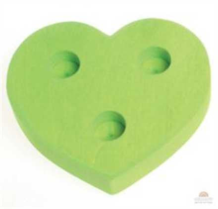 Grimm Light Green 3 hole Heart Lifelight Table Decoration
