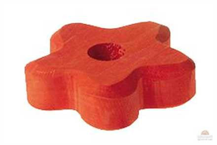 Grimm's Orange 1 Hole Flower Lifelights Wooden Table Decoration