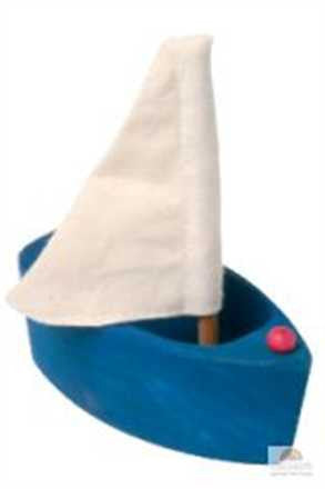 Grimm Small Blue boat and bath toy