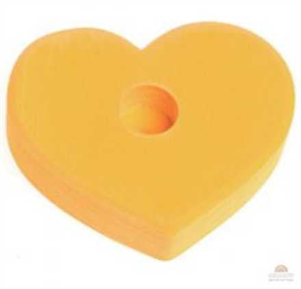 Grimm Yellow 1 hole Heart Lifelight Wooden Table Decoration