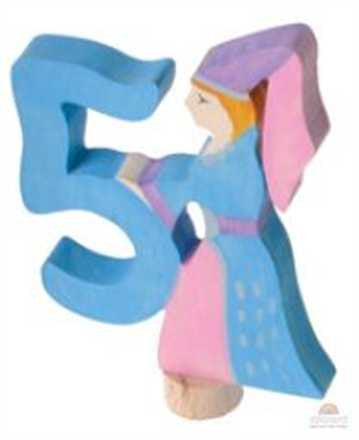 Grimm's Fairy Number 5 Princess Birthday Ring Decoration Stacker (Steckfiguren, Stecker)