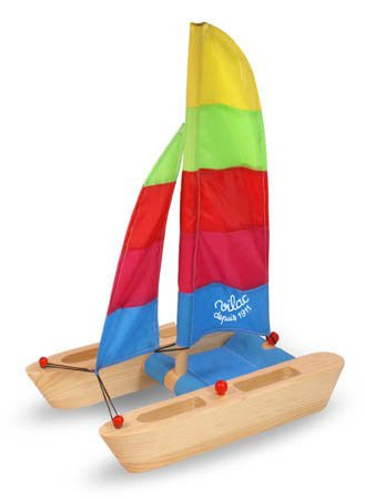 Vilac Catamaran - Wooden Boat and Water Toy