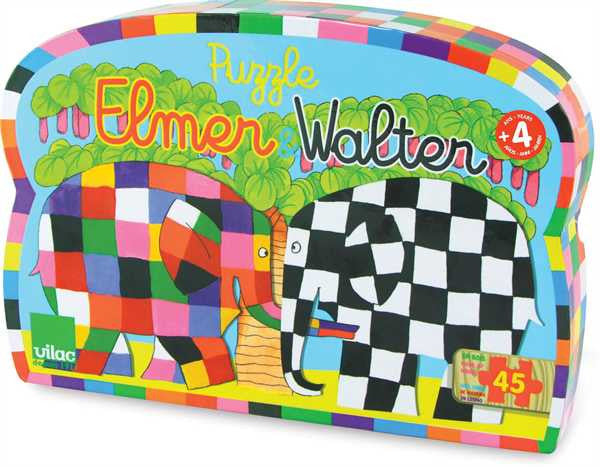 Elmer and Walter 45 piece wooden puzzle