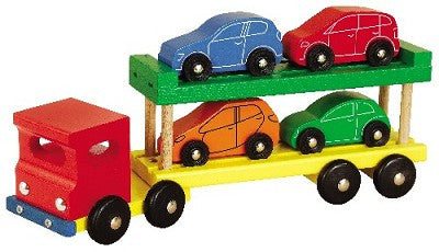 Heros Large Wooden Car Transporter Truck