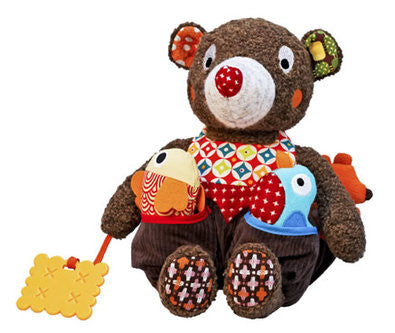 Ebulobo Activity Baby Bear Toy - Tizours d'activite