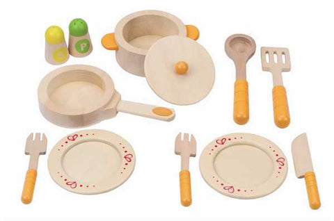 Gourmet Kitchen Starter Set: Toy Pots, Pans and Utensils