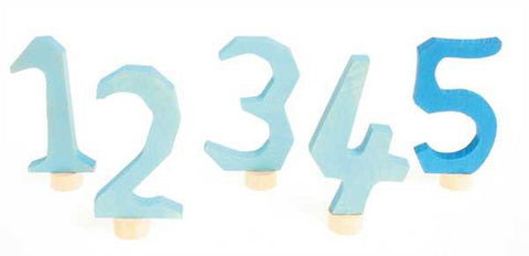 Grimm's Birthday Ring Numbers 1 - 5 Blue