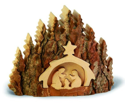 Bark Nativity Scene - Silhouette Puzzle Medium