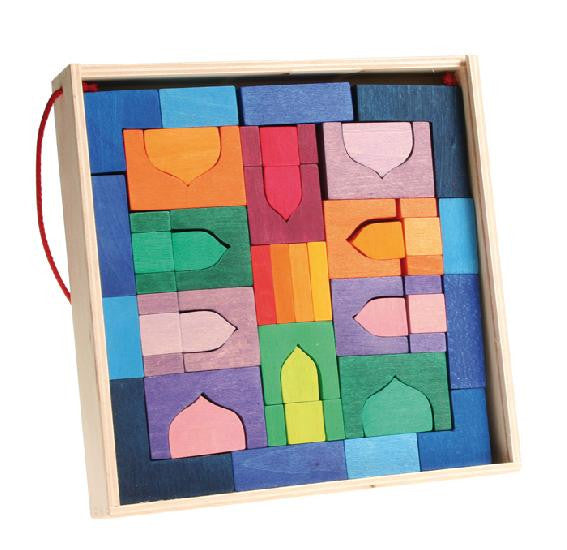 Grimm's Oriental Building Blocks Travel Set (1001 Nights)