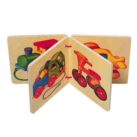 Selecta wooden book: Vehicles