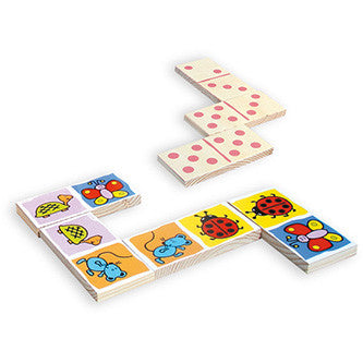 Vilac Large Bugs Wooden Dominoes Set (28 Pcs)