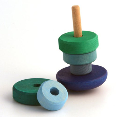 Grimm's Blue Wobbly Stacking Tower