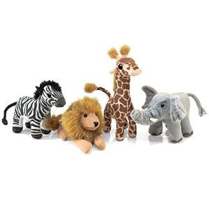 African Wildlife Playset Finger Puppets