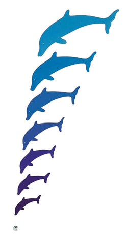 Grimm's Dolphins Mobile - Wooden European Mobile Blue Dolphins