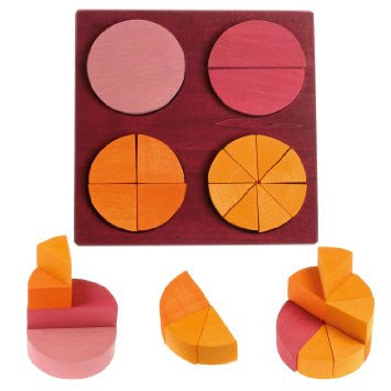 Grimms Wooden Fraction Circles