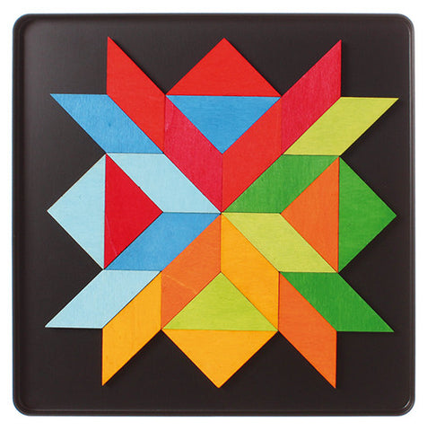 Grimm's Indian Square - Mini Magnetic Creative Puzzle for Beginners