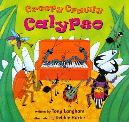 Creepy Crawly Calypso Baby and Toddler Book - Paperback with Music CD