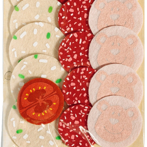 Haba Biofino Sliced Lunch Meats - Pretend Play Fabric Food