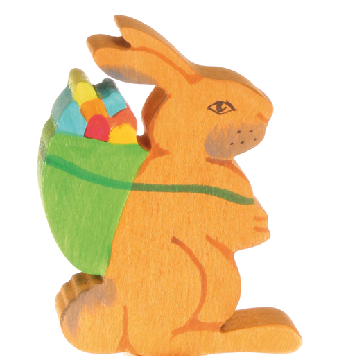Grimm's Easter Bunny Rabbit with Basket Table Decoration