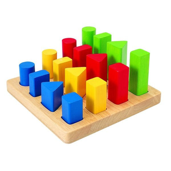 Plan Toys Geometric Peg Board Shape Sorter Toy